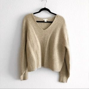 H&M oatmeal/beige chunky knit sweater